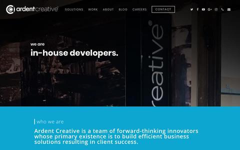 Screenshot of Home Page ardentcreative.com - Web Design Dallas Fort Worth | SEO | Video | Graphic Design - captured April 16, 2018