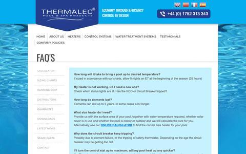 Screenshot of FAQ Page thermalec.co.uk - FAQS - captured Oct. 17, 2018