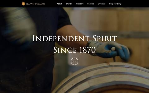 Screenshot of Home Page brown-forman.com - Home - Brown-Forman - captured June 17, 2019