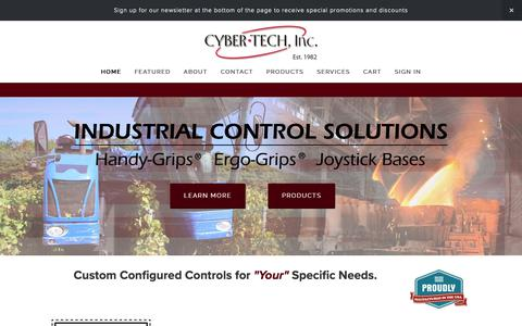 Screenshot of Home Page cyber-tech.net - Cyber-Tech, Inc. | Industrial Control Handles, Joysticks and Switches - captured Sept. 30, 2018