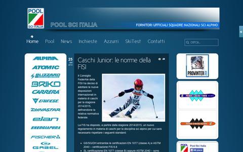 Screenshot of Home Page poolsciitalia.com - Pool Sci Italia - Pool Sci Italia - captured Oct. 1, 2014