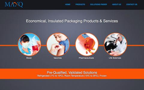 Screenshot of Home Page packmaxq.com - PackMaxQ | Insulated Packaging Products & Services - captured June 27, 2016