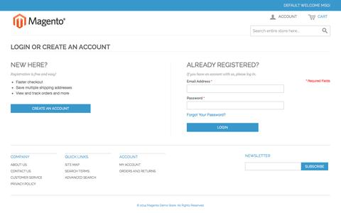 Screenshot of Login Page 76spots.com - Customer Login - captured Oct. 29, 2014