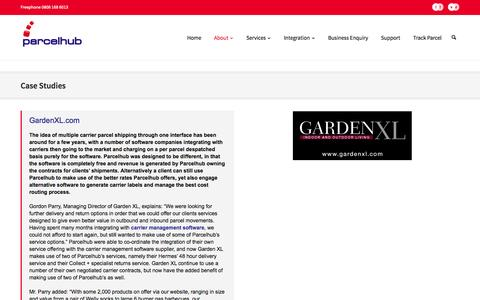 Screenshot of Case Studies Page parcelhub.co.uk - eBay Amazon fulfillment solutions for e-commerce Magento stores - captured Oct. 2, 2014
