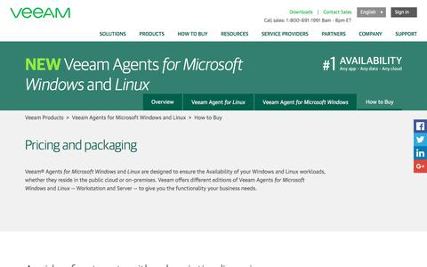 Buy Veeam Agents for Windows and Linux – Packaging