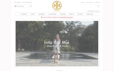 Screenshot of Home Page toryburch.co.uk - Tory Burch | Women's Clothing, Dresses, Shoes, Handbags & Accessories - captured Jan. 31, 2015