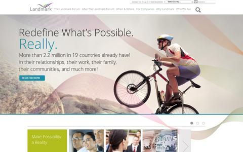 Screenshot of Home Page landmarkworldwide.com - Landmark Worldwide - captured Sept. 25, 2014