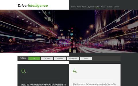 Screenshot of FAQ Page driver-intelligence.com - FAQs   Driver Intelligence - captured Oct. 9, 2018
