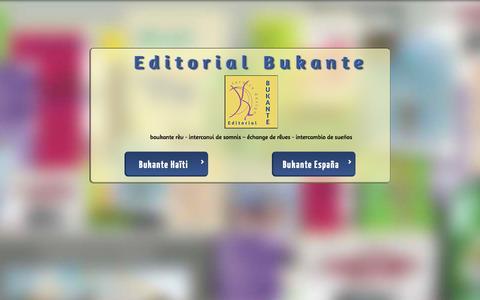 Screenshot of Home Page bukante.net - Editorial Bukante, échange de rêves, intercambio de sueños - captured Oct. 2, 2014