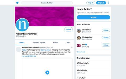 Tweets by NielsenEntertainment (@Nielsen_Ent) – Twitter