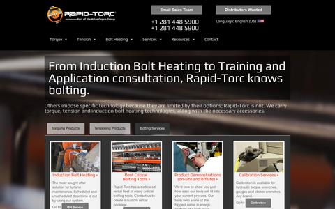 Screenshot of Services Page rapidtorc.com - Industrial Bolting Services, by Rapid-Torc® - captured Oct. 9, 2014