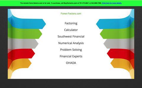 Forex-factors.com Is For Sale