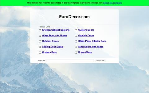 Screenshot of Home Page eurodecor.com - EuroDecor.com - captured Sept. 26, 2018