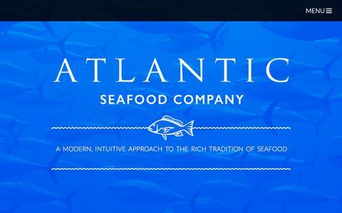 Screenshot of Home Page atlanticseafoodco.com captured Feb. 6, 2016