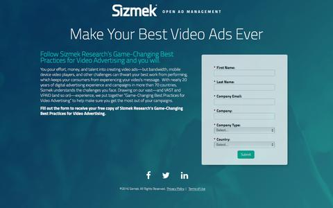 Screenshot of Landing Page sizmek.com - Download Now - captured April 12, 2016