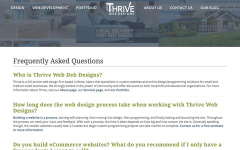 Frequently Asked Questions | Thrive Web Designs of Boise
