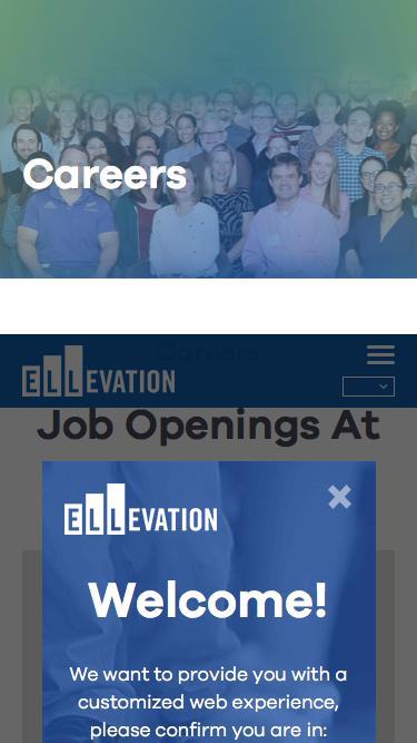 Screenshot of Jobs Page  ellevationeducation.com - Careers | Ellevation Education