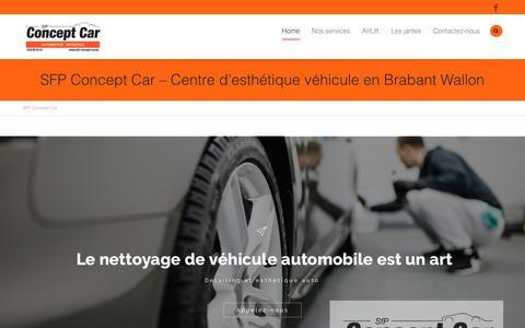 Screenshot of Home Page sfp-concept-car.be - Centre d'esthétique véhicule en Brabant Wallon | SFP Concept Car - captured Sept. 20, 2018