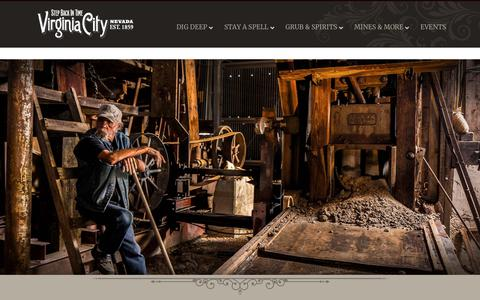 Screenshot of About Page visitvirginiacitynv.com - About Virginia City Tourism Commission - Virginia City Nevada - captured Sept. 22, 2018