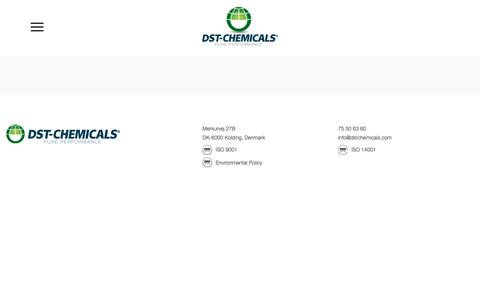 Screenshot of Contact Page dstchemicals.com - Contact -DST-Chemicals - captured Jan. 6, 2018