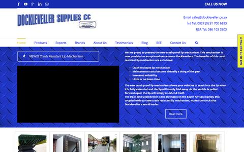 Screenshot of Home Page dockleveller.co.za - Dockleveller - captured Nov. 24, 2016