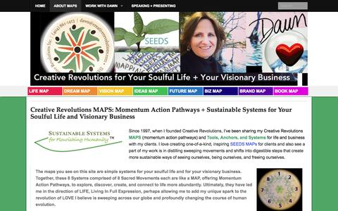 Screenshot of Maps & Directions Page creativerevolutions.com - Creative Revolutions MAPS: Momentum Action Pathways + Sustainable Systems for Your Soulful Life and Visionary Business - Dawn Richerson, Creative Revolutions Inc. - captured Oct. 3, 2014