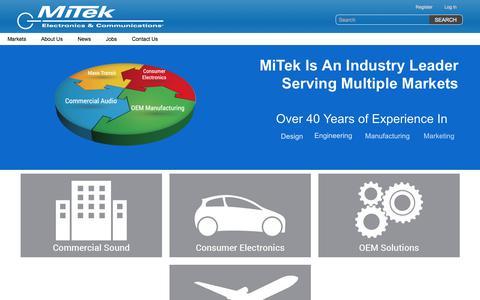 Screenshot of Home Page mitekusa.com - MiTek Corporation - captured Oct. 18, 2017