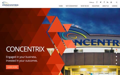 Screenshot of Home Page concentrix.com - Concentrix Corporation - captured Sept. 16, 2014