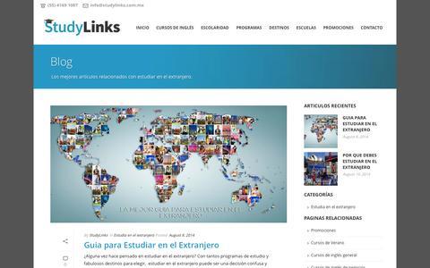Screenshot of Blog cursosingles.mx - Blog Estudia En El Extranjero - StudyLinks - captured Nov. 1, 2014