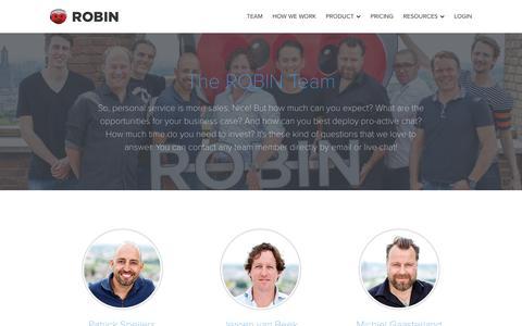 Screenshot of Team Page robinhq.com - Meet the team | ROBIN - captured Nov. 6, 2016