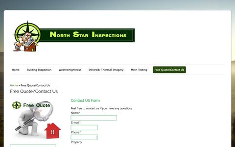 Screenshot of Pricing Page northstarinspect.co.nz - Free Quote/Contact Us - North Star Inspections - captured Oct. 31, 2018