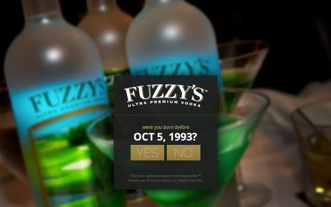 Screenshot of Contact Page fuzzyvodka.com - Fuzzy's Vodka - Contact Us - captured Oct. 6, 2014
