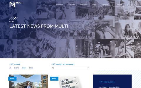 Screenshot of Press Page multi.eu - News Archives - Multi Corporation - captured Nov. 17, 2018