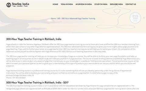 Starlim India: 300, 500-Hr Yoga Teacher Training Rishikesh