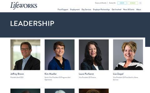 Screenshot of Team Page lifeworks.org - The Lifeworks Leadership Team - captured Dec. 15, 2018