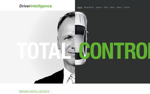 Screenshot of Home Page driver-intelligence.com - The comprehensive fleet risk management solution   Driver Intelligence - captured Oct. 9, 2018