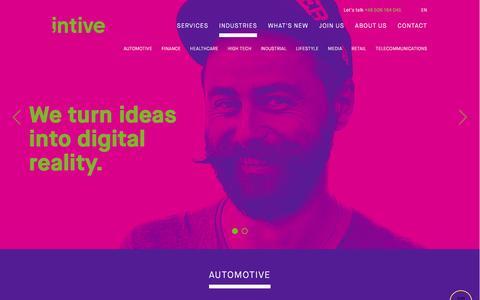Screenshot of Press Page intive.com - Industries - Intive - captured Nov. 18, 2016