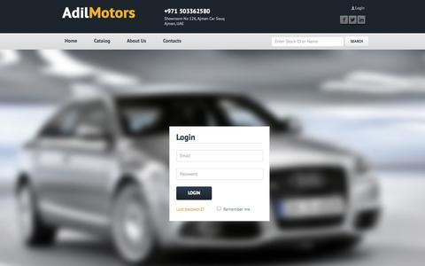 Screenshot of Login Page adilmotors.com - Sign in | Adil Motors - Your Premium Car Dealer - captured Sept. 30, 2014