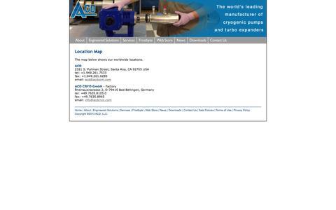 Screenshot of Services Page acdcom.com - ACD - captured Feb. 4, 2016