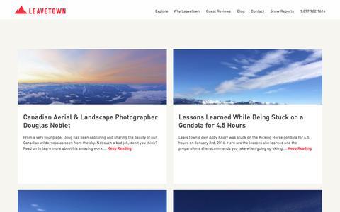 Screenshot of Blog leavetown.com - Leavetown Travel and Guide Blog - captured Jan. 27, 2016