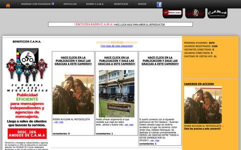 Screenshot of Home Page cama-internacional.org - C.A.M.A. Internacional - captured Sept. 1, 2015