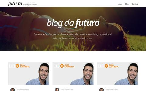 Screenshot of Blog futu.ro - Blog - Futu.ro - captured Nov. 25, 2016