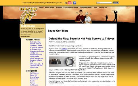Screenshot of Blog baycogolf.com - Bayco Golf Blog - captured June 1, 2017
