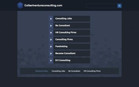 Screenshot of Home Page colbertventureconsulting.com - Colbertventureconsulting.com - captured July 19, 2018
