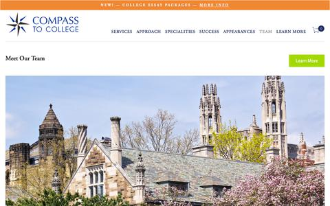 Screenshot of About Page Team Page compasstocollege.org - COMPASS TO COLLEGE-Ivy League, MIT, Stanford, Chicago, Northwestern College Consultants - captured July 14, 2018