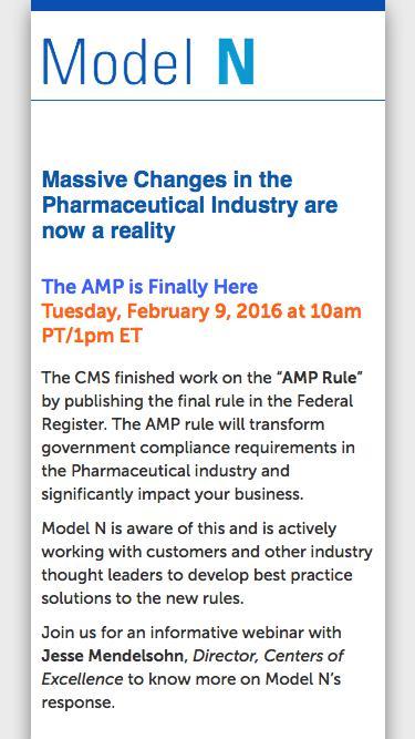 Model N| AMP Rule is Final