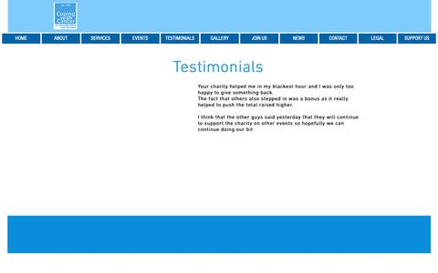 Screenshot of Testimonials Page c-w-c.org.uk - c-w-c | TESTIMONIALS - captured Sept. 29, 2018