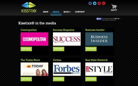 Screenshot of Press Page kisstixx.com - Media | Kisstixx - captured Nov. 2, 2014