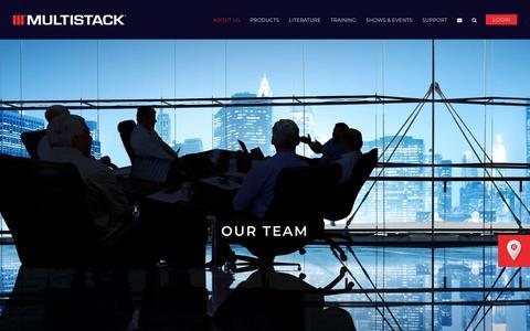 Screenshot of Team Page multistack.com - Our team - Multistack - captured Nov. 17, 2018