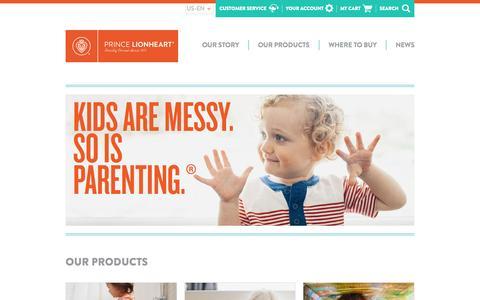 Screenshot of Home Page princelionheart.com - Home page - captured Oct. 5, 2015